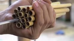 """Clip: """"Đột nhập"""" xưởng sản xuất ống hút tre lớn nhất miền Bắc"""