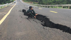 Gia Lai: Đường trăm tỷ vừa hoàn thành đã cấm xe vì mất an toàn