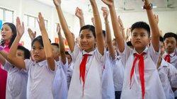 Hình ảnh lễ khai giảng đặc biệt ở ngôi trường hát Quốc ca bằng tay
