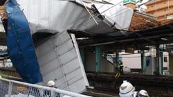 Siêu bão sức gió 200 km/giờ đổ bộ Tokyo, thổi bay xe hơi, giao thông hỗn loạn