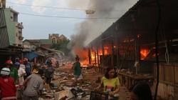 Cháy chợ Mộc Bài: Tạm ứng ngân sách động viên người bị thiệt hại