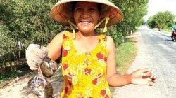Lũ về miền Tây: Kiếm 600.000/ngày từ chuột đồng, cá linh, bông súng