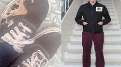 Vì sao quý tử của Beckham thích đi giày rách tươm nhiều năm nay?