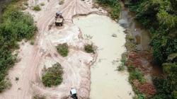 """Bình Định: """"Băm vằm"""" sông La Tinh khai thác cát trái phép"""