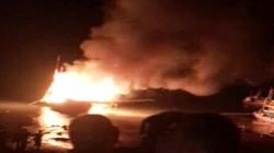 Tàu cá bất ngờ bốc cháy dữ dội, nhiều người bị thương và mất tích