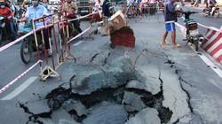 TP.HCM: Đường ống cấp nước bất ngờ vỡ, nổ trên đường