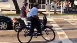 Xem màn giữ thăng bằng xe đạp cực chất của cụ ông đa tài