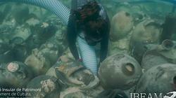 Phát hiện hơn 100 bình cổ nguyên vẹn đến kinh ngạc ở xác tàu La Mã dưới đáy biển
