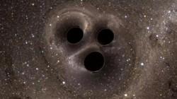 Phát hiện 3 hố đen khổng lồ ngoài vũ trụ đang hợp nhất làm một