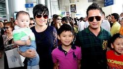 Bằng Kiều cùng vợ đưa ba con về Việt Nam