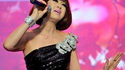 Ý Lan quỳ trên sân khấu hát ca khúc của Phạm Duy