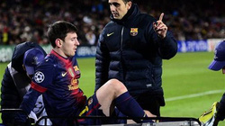 Barca lo sốt vó với chấn thương của Messi