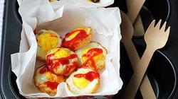 Nhanh gọn trứng cút nướng cho bữa sáng