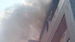 Cháy Trung tâm thương mại, khói cuộn mù trời