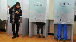 Cử tri Hàn Quốc đi bầu Tổng thống