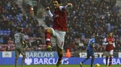 Wigan-Arsenal (0-1): Pháo thủ thắng nhọc