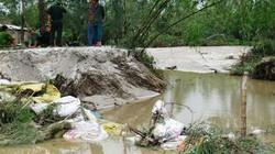 Hà Tĩnh: Nửa đêm vỡ bờ kè hàng trăm nhà dân ngập nặng