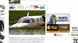 """Truyền hình Thái Lan hay Bangkok Post đưa ảnh """"ma"""" về máy bay Lào gặp nạn?"""