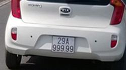 """NÓNG: """"Xe cỏ"""" gắn biển """"ngũ quý"""" 9 lượn lờ Hà Nội"""