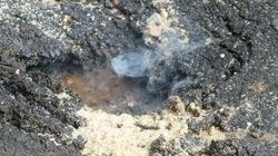 Khám nghiệm đường nứt toác, phun lửa ở TP.HCM