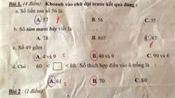Học sinh tiểu học chỉ có nước cắn bút ấm ức vì đề toán