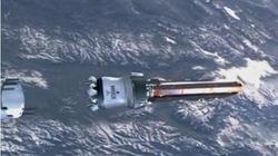 Clip cận cảnh vệ tinh 1 tấn rơi xuống Trái đất hôm nay