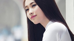 Hoa hậu Thu Thảo ngây thơ, e ấp trong tà áo dài