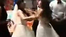 Cô dâu và tình địch mang bầu choảng nhau tơi bời trong tiệc cưới