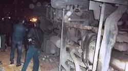 Xe tải lật đè trúng xe máy, 2 người tử vong tại chỗ
