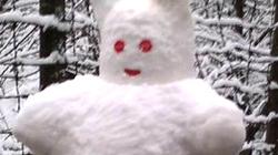 Tuyết phủ trắng Sapa, nhiều bạn trẻ đổ về 'show hàng' nặn hình tuyết