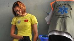 Chùm ảnh hot girl điền kinh Việt Nam bật khóc cay đắng