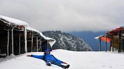 Núi chìm trong tuyết đẹp lạ lùng như ở Sapa