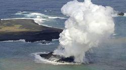 Hy hữu: Núi lửa phun trào nối liền 2 đảo