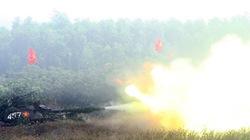 Quân đoàn 4 diễn tập: Xe tăng khai hỏa, nhắm đánh mục tiêu địch