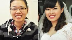 'Lột xác' cho cô dâu bị cận với make up tự nhiên