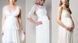 Váy cưới tuyệt đẹp dành cho những cô dâu mang bầu