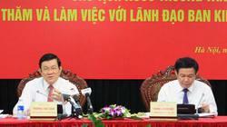 Chủ tịch nước Trương Tấn Sang làm việc với Ban Kinh tế TW