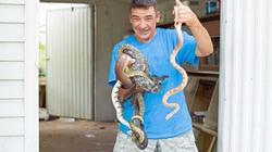 Khiếp đảm người đàn ông sống với hàng chục con rắn độc trong nhà