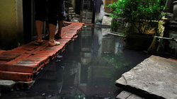 """KINH HOÀNG: Khu dân cư giữa Thủ đô hơn 1 năm """"ngập chìm"""" trong nước cống thối"""