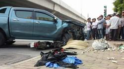 Xe Mazda đâm liên tiếp 1 ô tô và nhiều xe máy, 1 phụ nữ tử vong