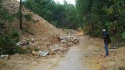 Đất thải mỏ đá bồi lấp đập thủy lợi