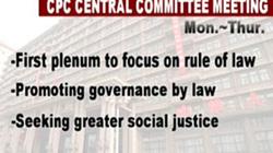 Hội nghị trung ương IV Đảng Cộng sản Trung Quốc đặt trọng tâm thảo luận là pháp quyền