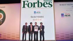 """PVFCCo liên tiếp nhận giải thưởng """"Top 50 công ty niêm yết tốt nhất"""" do Forbes Vietnam bình chọn"""
