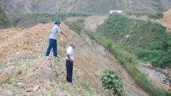 Ruộng canh tác thành bãi đổ đất đá thải khổng lồ