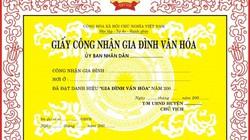 Phú Thọ: Tự khai thành tích là được... gia đình văn hóa