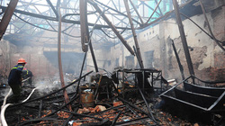 Hà Nội: Cháy lớn ở CTCP Thiết bị Khí tượng Thuỷ văn và Môi trường