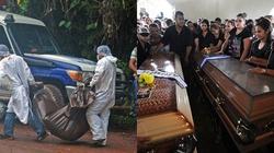 Xót xa lễ tang hai chị em Hoa hậu bị sát hại