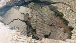 """""""Hố tử thần"""" tại Thanh Hóa đã lấp đầy lại tái sụt lún"""