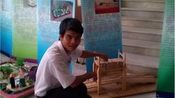 Cậu học trò xứ Quảng đam mê sáng tạo sản phẩm từ tre
