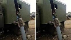"""Tên lửa """"khủng"""" lao vỡ đôi thân xe quân sự của ly khai Ukraine?"""